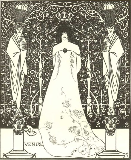 """Venus Between Terminal Gods"", Aubrey Beardsley, 1895"