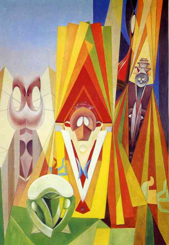 Max Ersnt, 'Feast of the God', 1948